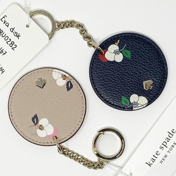 ♠️ NWT Kate Spade Eva Disc Key chain - navy